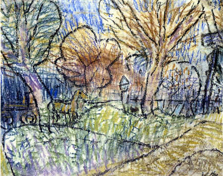 Paul Klee - Landschaft mit gelbem Pferd und violettem Signal