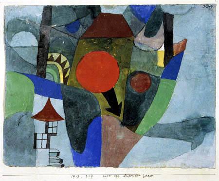 Paul Klee - Mit der sinkenden Sonne