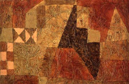 Paul Klee - o.T. Pflanzen um den braunen Felsen
