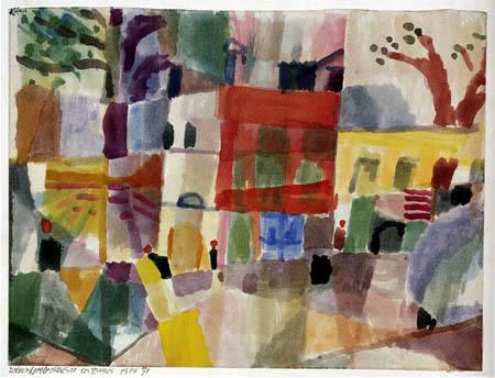 Paul Klee - Rotew und gelbe Häuser in Tunis