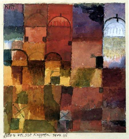 Paul Klee - Rote und weisse Kuppeln