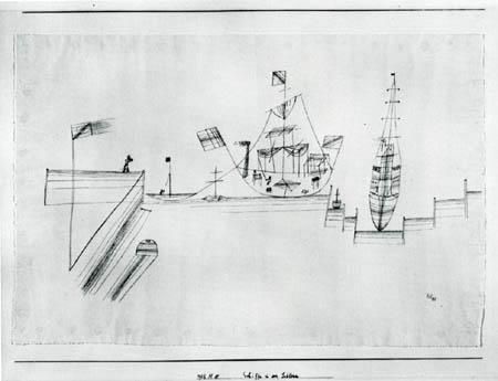Paul Klee - Schiffe in der Schleuse