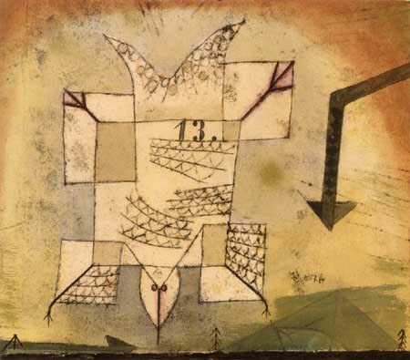Paul Klee - A crashing bird