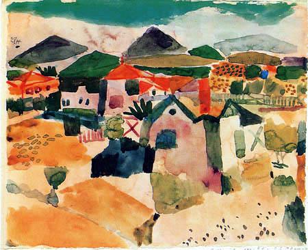 Paul Klee - Ansicht von Saint-Germain