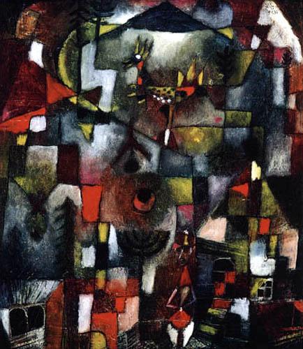 Paul Klee - Bild mit dem Hahn und dem Grenadier