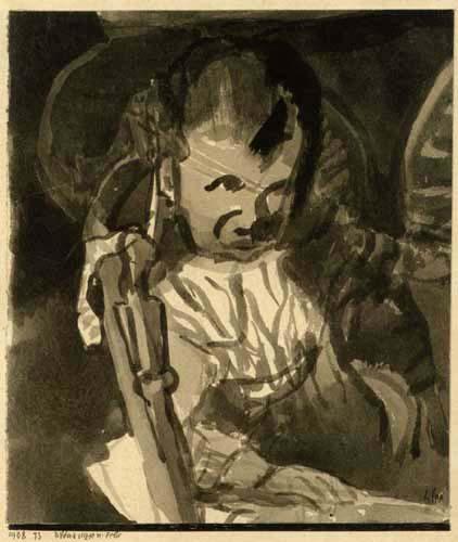 Paul Klee - Bildnisskizze Felix