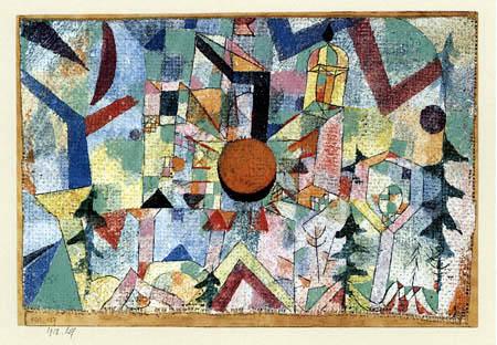 Paul Klee - Burg mit untergehender Sonne