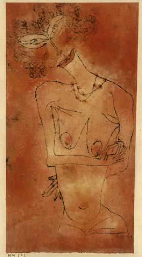 Paul Klee - Dame mit geneigtem Haupt