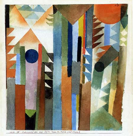 Paul Klee - The forest was created from the seed