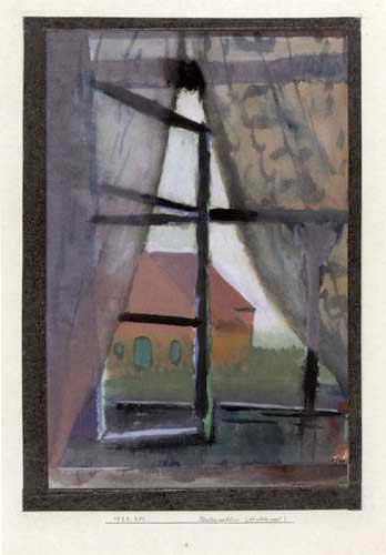 Paul Klee - Blick aus dem Fenster, Nordseeinsel Baltrum