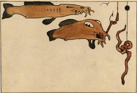 Paul Klee - Fische und Angel