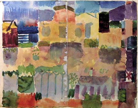 Paul Klee - Un jardin dans la colonie européenne, Tunis