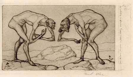 Paul Klee - Invention 6, Deux hommes