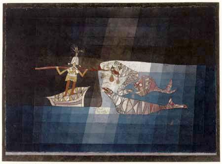 Paul Klee - Fight scene, The Seaman