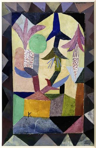 Paul Klee - Fleurs du bouquet sur la maison jaune