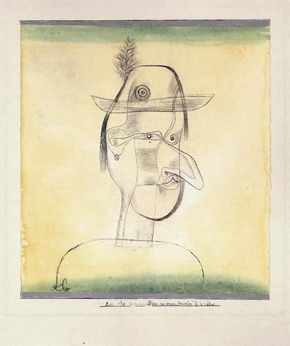 Paul Klee - Comic Character from a Bavarian Folk Play