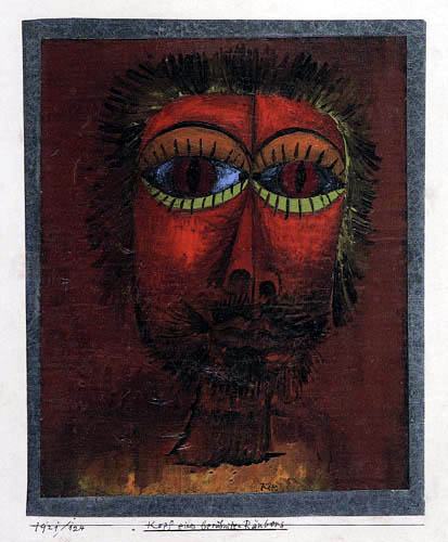 Paul Klee - Head of a famous robber