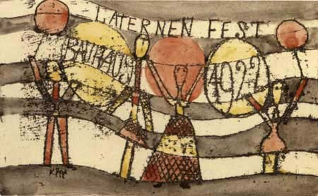 Paul Klee - Laternenfest Bauhaus 1922