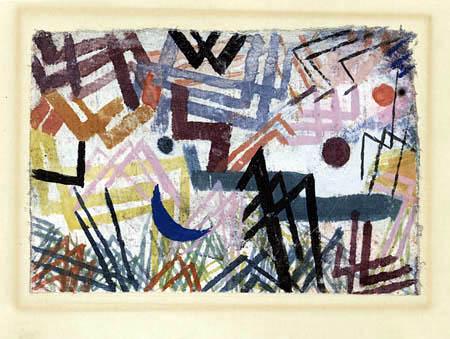 Paul Klee - Jouer des forces en paysage fluvial