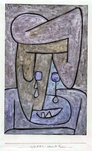 Paul Klee - Weinende Frau