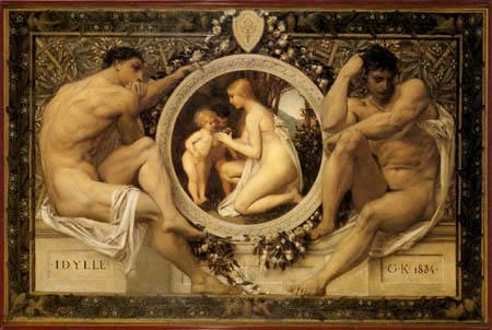 Gustav Klimt - Idylle