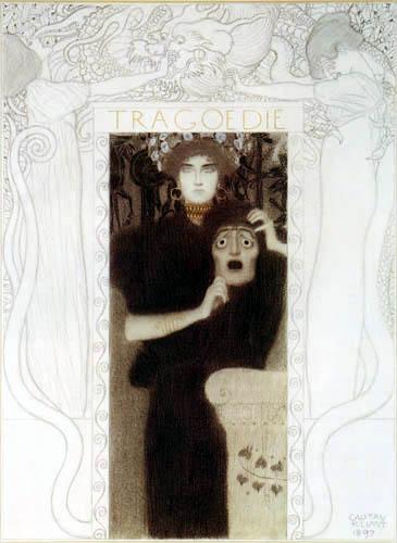 Gustav Klimt - Reinzeichnung der Allegorie 'Tragödie'