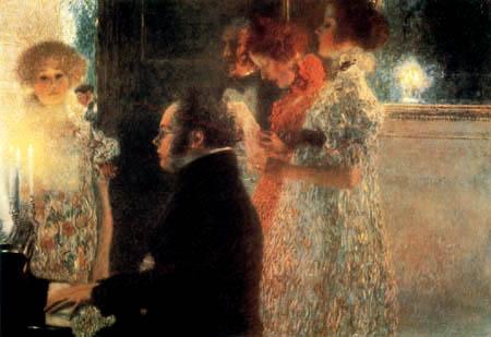 Gustav Klimt - Schubert am Klavier