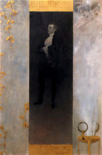 Gustav Klimt - Der Hofburgschauspieler Josef Lewinsky