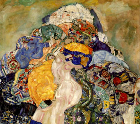 Gustav Klimt - Baby, Detail
