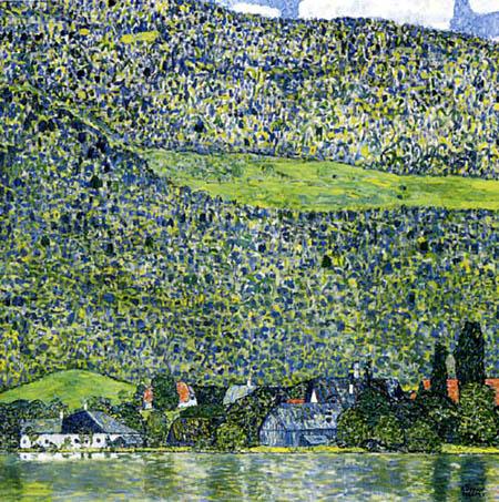 Gustav Klimt - Waldabhang in Unterach am Attersee