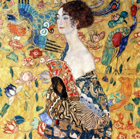 Gustav Klimt - Lady with fan