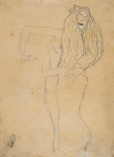 Gustav Klimt - Zwei sich umfangende nackte Frauen