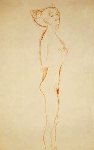 Gustav Klimt - Stehendes nacktes Mädchen