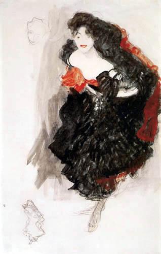 Gustav Klimt - Studie zu 'Judith'
