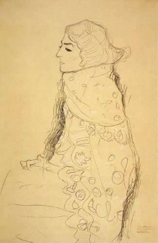 Gustav Klimt - Sitzende Dame