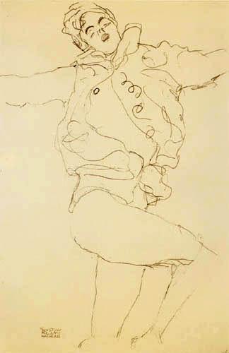 Gustav Klimt - Tanzende mit Umhang