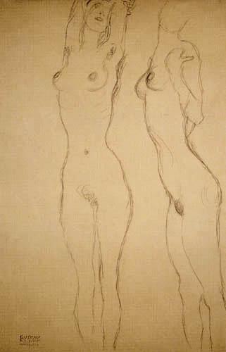 Gustav Klimt - Zwei Akte