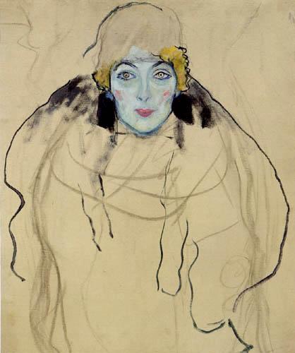 Gustav Klimt - Portrait en face