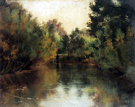 Gustav Klimt - A Still Pond