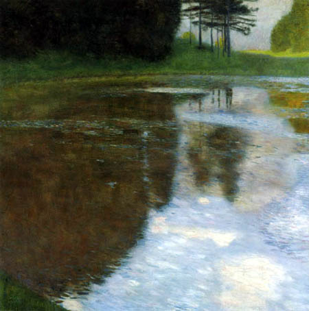 Gustav Klimt - A morning at the pond