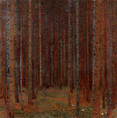 Gustav Klimt - Tannenwald I.