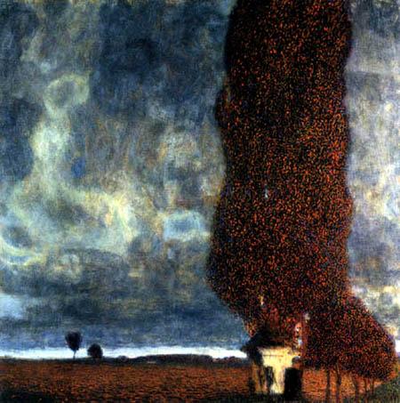 Gustav Klimt - The large poplar II