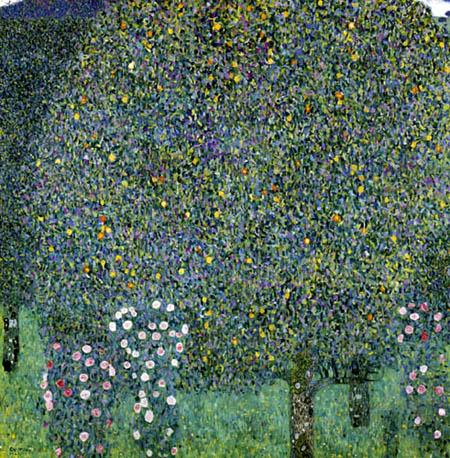 Gustav Klimt - Rosen unter Bäumen