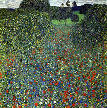Gustav Klimt - Field of Poppies