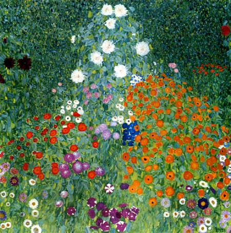 Gustav Klimt - Flowers garden