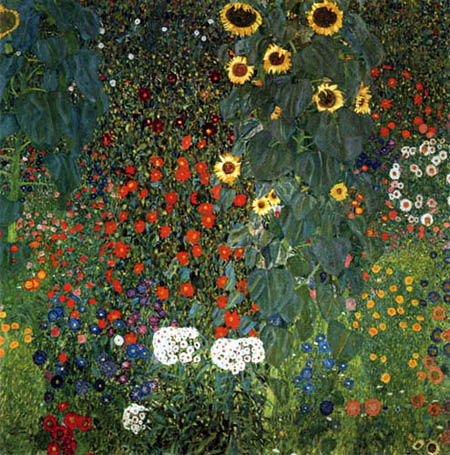 Gustav Klimt - Flower Garden with Sunflowers