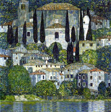 Gustav Klimt - Church, Cassone