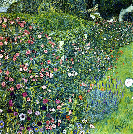 Gustav Klimt - Italian garden landscape