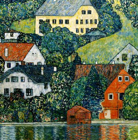 Gustav Klimt - Häuser in Unterach am Attersee