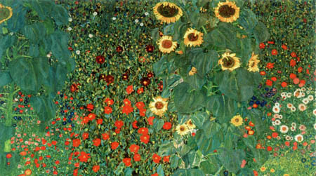 Gustav Klimt - Flower Garden with Sunflowers, detail